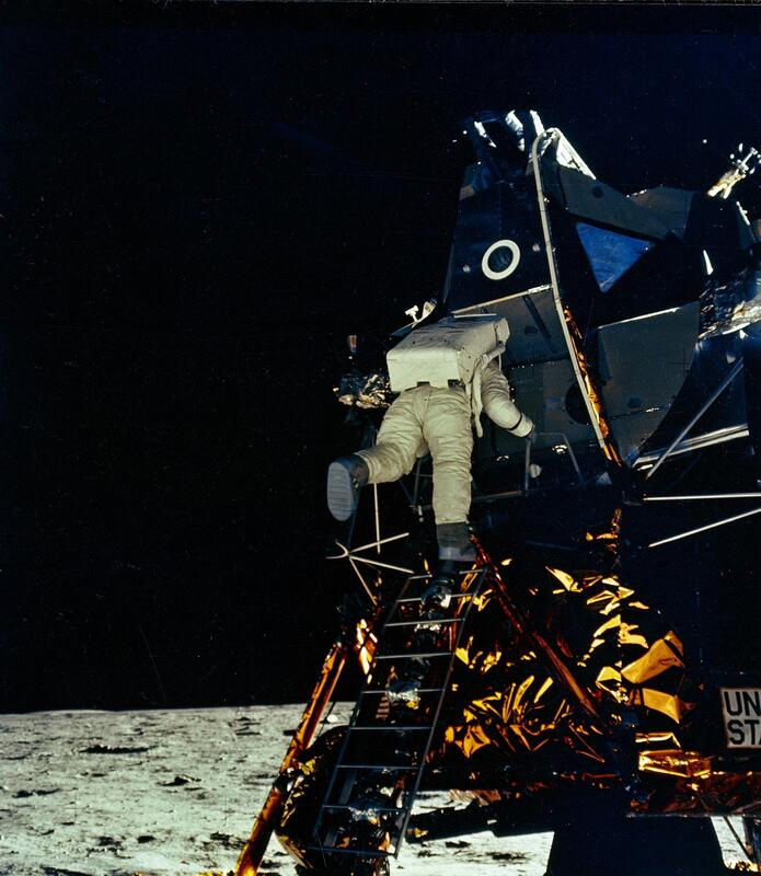 Apollo 11 lands on the moon, July 20, 1969